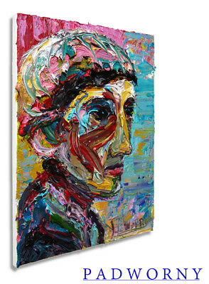 Original Oil Painting Large Impressionism Art Pop Realism Signed Folk Abstract A