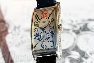 Beautiful Rare 1920 Art Deco Antique Hermes Watch Beautiful Detailed Silver Case