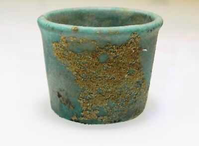 Zurqieh -As9982- Ancient Egypt. Faience Cup . Late Period. 600 - 300 B.c