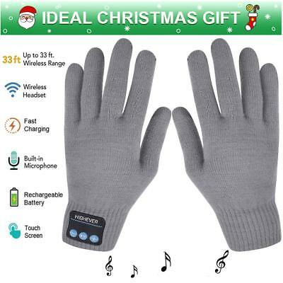 Wireless Bluetooth Winter Gloves Touch Screen with Built-in Stereo Speakers
