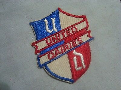 "Vintage United Dairies Sew On Patch 2 1/4"" X 3"""