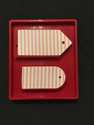Sizzix Die Mixed Tags Combo Red Large Original DieCut Tag Bigkick Scrapbook 2pc
