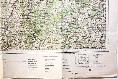 1918 – US Army 29th Engineers Map of France & Frontiers, Longwy Region