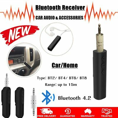 Bluetooth 4.2 Audio Music Receiver 3.5mm Jack Car AUX Speaker Mic Adapter LOT OE