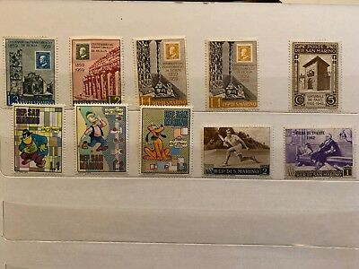 SAN MARINO ITALY  stamps collection page 10 total stamps mixed joblot