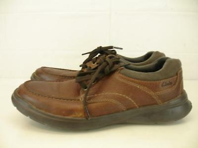 1b7ff7a2ef6 Clarks Mens sz 11 M Cotrell Edge Lace-Up Shoe Brown Leather Casual Comfort  Shoes