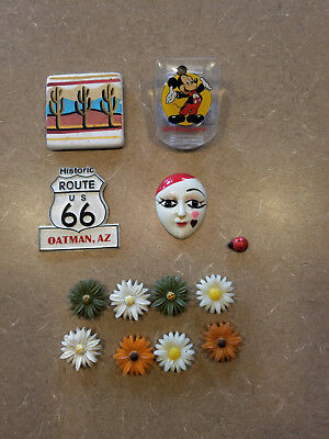 Lot Of Vintage Refrigerator Magnets Mickey Mouse Route 66 Arizona