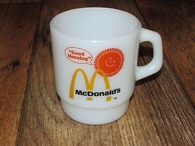 Vintage McDonald's Good Morning Sunshine Coffee Cup, By Fire King,