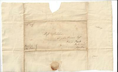 1700's Early letter of introduction- Ms Robbie to Ms Belcher via John Brown Esq