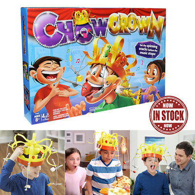 Chow Crown game Family Party Game Hat Fun Toys Musical Food Challenge 2019 Gift