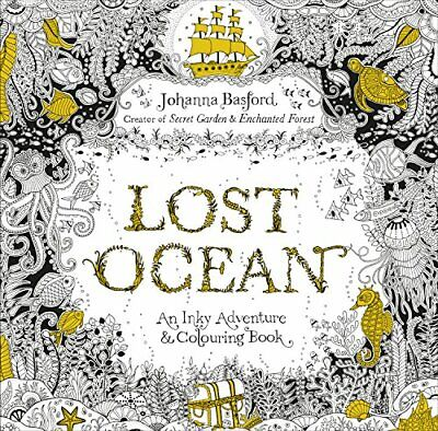 Lost Ocean: An Inky Adventure & Colouring Book by Basford, Johanna Book The