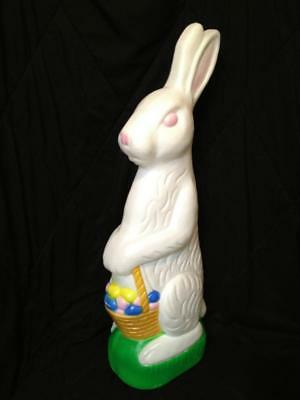 1993 Don Featherston Easter Bunny w Basket Indoor Outdoor Blow Mold No Light NR