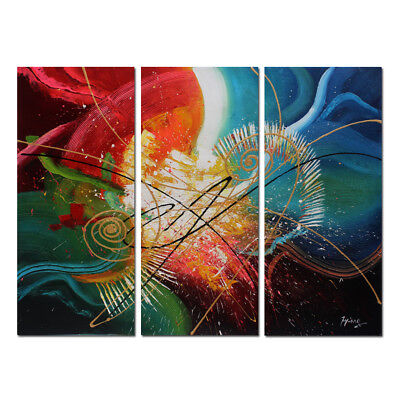 Large MODERN ABSTRACT OIL PAINTING On Canvas Contemporary Wall Art Decor Framed
