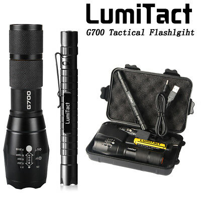 10000lm Genuine Lumitact G700 Cree L2 LED Tactical Flashlight Military Torch
