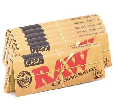 RAW rolling Papers 1 1/4 Size 6 PACK