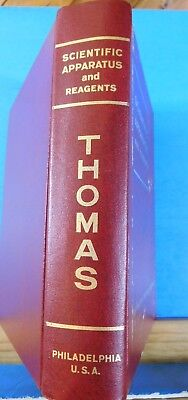 Scientific Apparatus and Reagents by Arthur H. Thomas Company HC 1961
