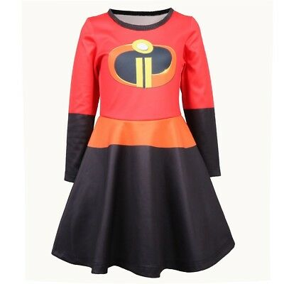 The Incredibles 2 Girls Fancy Dress Superhero Kids Childs Costume Outfit Dresses