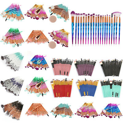 20PCS Make Up Brushes Set Eyeshadow Eyeliner Lip Powder Foundation Blusher Tool