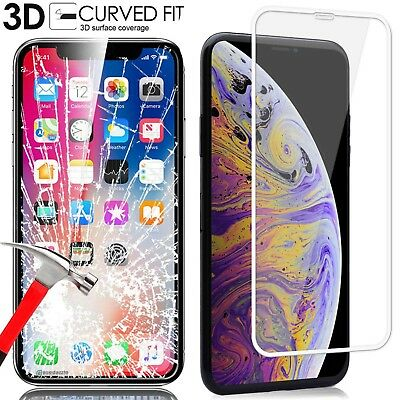 3D Tempered Glass Protective Screen Protector Film for iPhone XS Max 6S/7/8 Plus