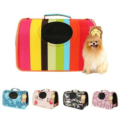 New Portable Dog Cat Tote Mesh Carrier House Kennel Pet Travel Handbag Cage
