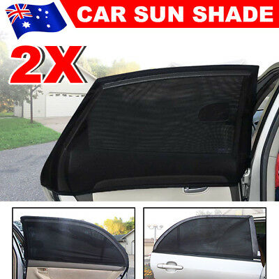 2x Universal Sun Shades Rear Side Seat Car Window Socks Baby Kids Protection esm