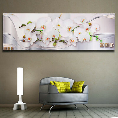 1200x400mm Modern Magnolia Flower Painting Picture Wall Mount Decor Unframed