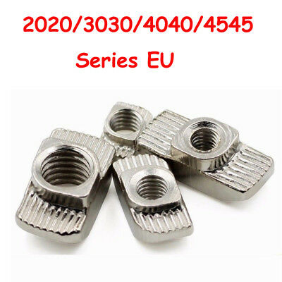 10/50/100* M3~M8 Drop In Tee nuts T-slot Aluminium Profile Extrusion For CNC 3D