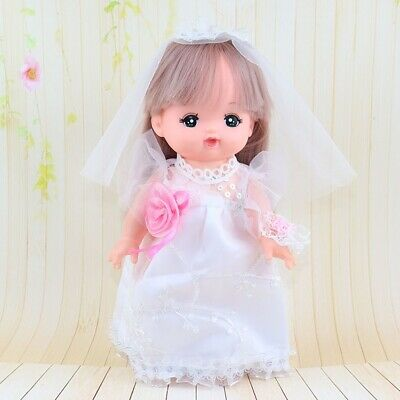 """Wedding Dress Gown for Mellchan Baby Doll for 9-11"""" Reborn Girl Doll Clothes"""