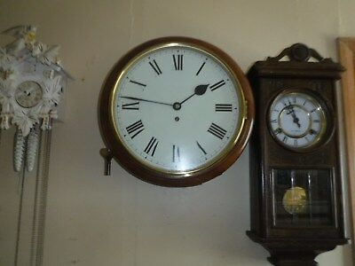 """English Dial Fusee Clock 12"""" with 1 year Warranty"""