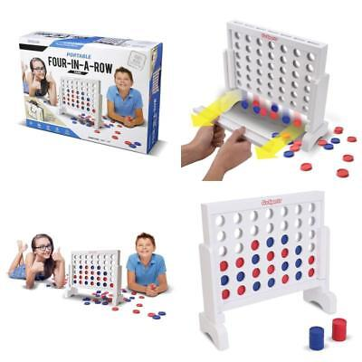 Four In a Row Large Wooden Outdoor Games Yard Big Lawn Jumbo Giant Portable Case