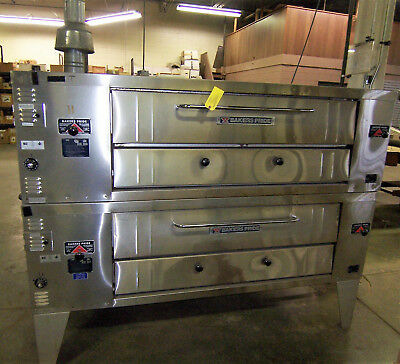 Bakers Pride Superdeck Series Y800 Double Stacked Gas Fired Pizza Oven