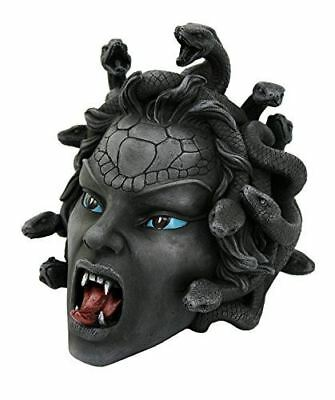 Egift Head of Medusa Collectible Figurine in Stone Finish 8 Inch Tall Stone Gaze