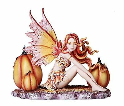 Autumn Pumpkin Fairy Fall Statue Amy Brown Fantasy Art Figurine Collection