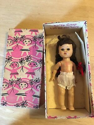 Vogue SLW Ginny Doll In Original Box-undressed-brown Pigtails