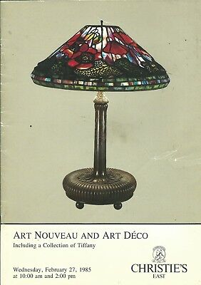CHRISTIE'S Art Nouveau Art Deco Tiffany Collection Auction Catalog 1985