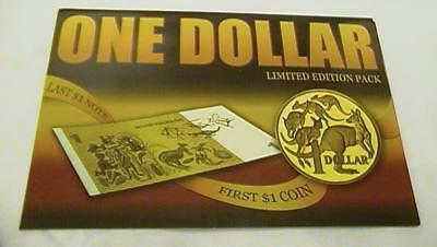 2004 Sherwood Australia First Dollar Coin and Last Dollar Note 1984 Limited Pack