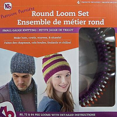 Authentic Knitting Board Premium Round Loom Set    Three Sizes Included
