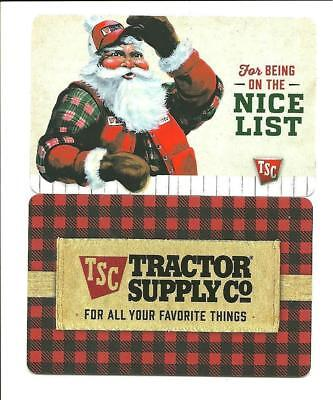 Lot (2) Tractor Supply Christmas Holiday Gift Cards No $ Value Collectible Santa