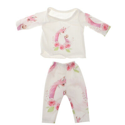 Cute Doll Jumpsuit Pajamas Set For 18'' American Girl Dolls 100% Cotton