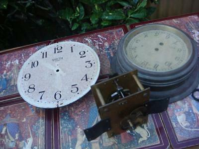 Vintage Smith  Clock Dial  With  Movement  For Restoration , Spare Or repair