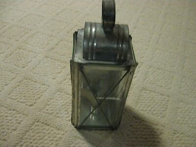 Vintage Glass Candle Lantern Used In Civil War Re-Enactments