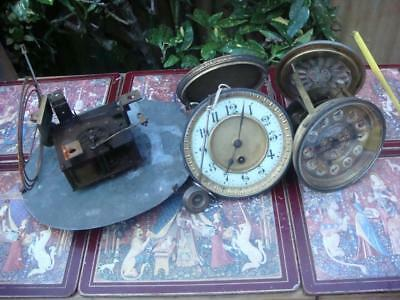 Vintage French  Clock  Movement  For Restoration , Spare Or repair