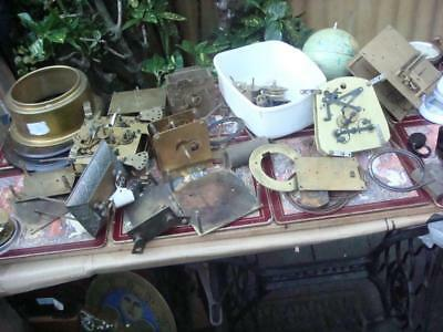 Vintage   Clock  movement  And Parts   For Restoration , Spare Or repair
