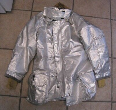 Janesville LION Firefighter Proximity Jacket Size 46 x 35 R Aluminized Turn Out