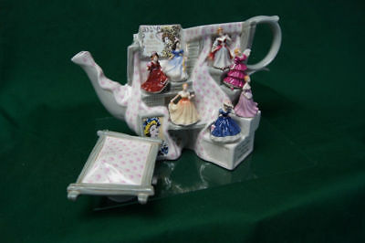 Royal Doulton Paul Cardew Large Tiny Pretty Ladies Market Stall Teapot