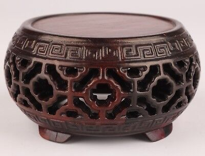 Solid Wood Carving High-Grade Use Round Home Decoration Display Vase Base Stand