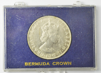 1964 Bermuda Silver One Crown Coin KM# 14 Uncirculated Low Mintage