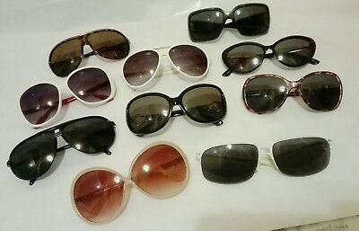 Job Lot Of 10 Sunglasses Mixed Style, Shape And Colour