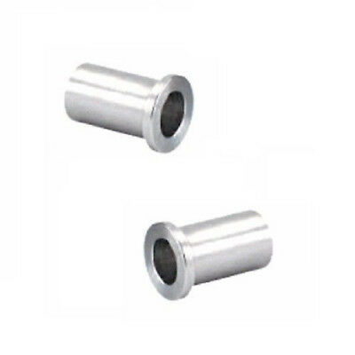 """2 Delrin 1-3//16/"""" OD x 3//4/"""" ID Flanged Spanner Bushing Nylon No Moving Parts"""
