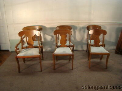 51141:Henkel Harris Set of 6 Walnut Dining Chairs